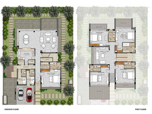 Planning of the apartment Villas, 2500 in Fendi Styled Villas, Dubai