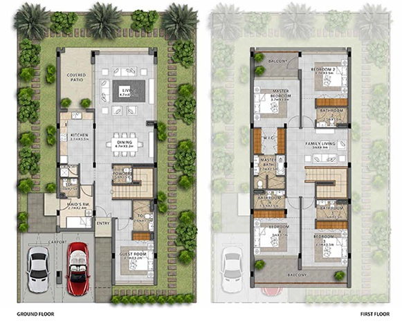 Planning of the apartment Villas, 2696 in Fendi Styled Villas, Dubai