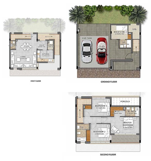 Planning of the apartment Villas, 4304 in Fendi Styled Villas, Dubai