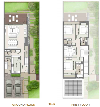 Planning of the apartment Villas, 4549 in The Turf Villas at Damac Hills, Dubai