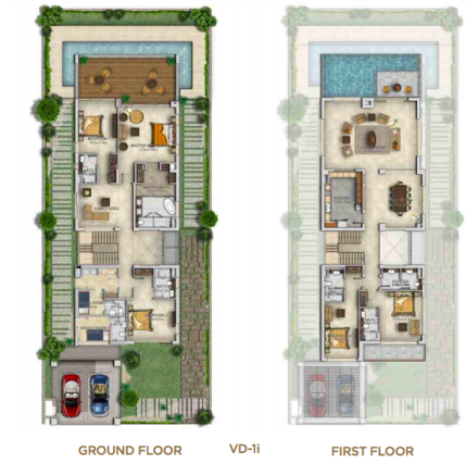 Planning of the apartment Villas, 4881 in The Turf Villas at Damac Hills, Dubai