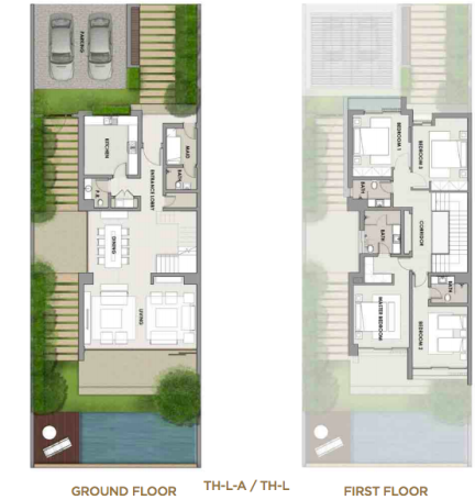 Planning of the apartment Villas, 4882 in The Turf Villas at Damac Hills, Dubai