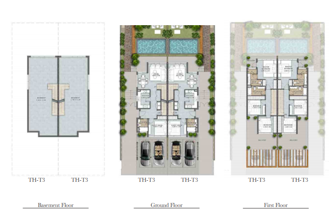 Planning of the apartment Villas, 3505 in Trump Estates Park Residence, Dubai