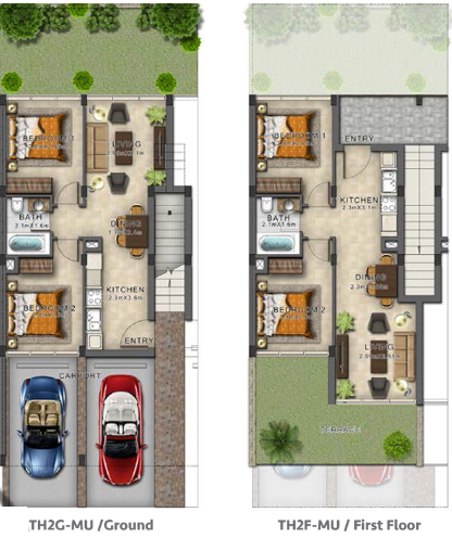 Planning of the apartment Townhouses, 700 in Evo Townhomes, Dubai