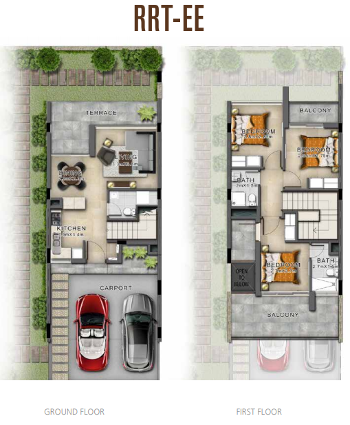Planning of the apartment Villas, 1732 in Sahara Villas, Dubai