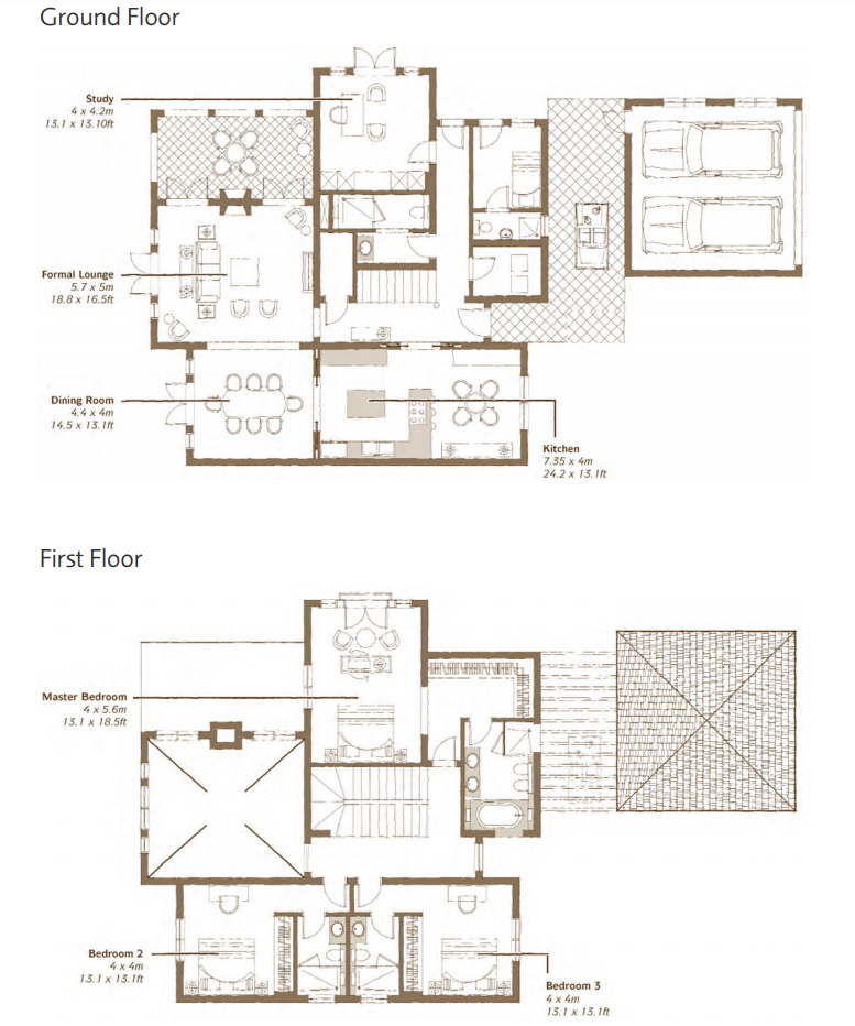 Planning of the apartment 4BR, 5617 in Whispering Pines Villas, Dubai