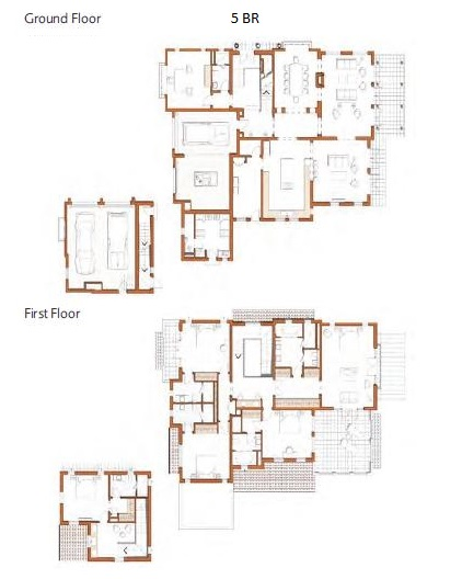 Planning of the apartment 5BR, 8044 in Redwood Avenue Villas, Dubai