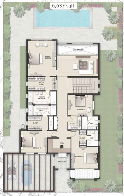 Planning of the apartment Villas, 6637 in District One Villas, Dubai