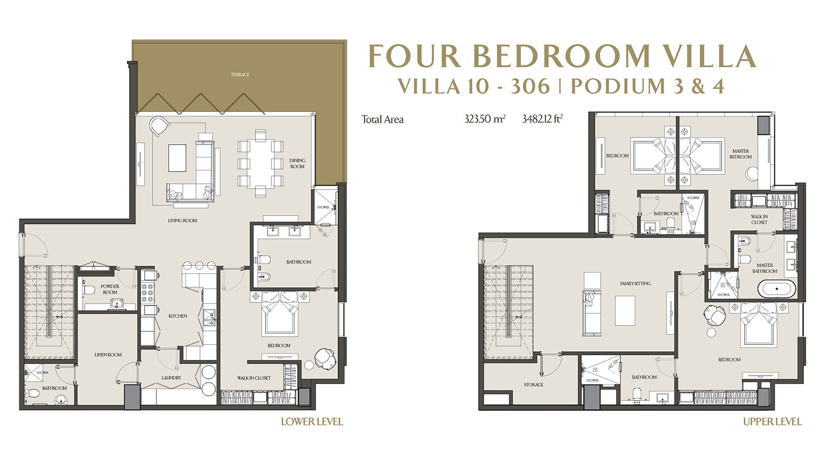 Planning of the apartment Villas, 3482.12 in LIV Residence Apartments, Dubai
