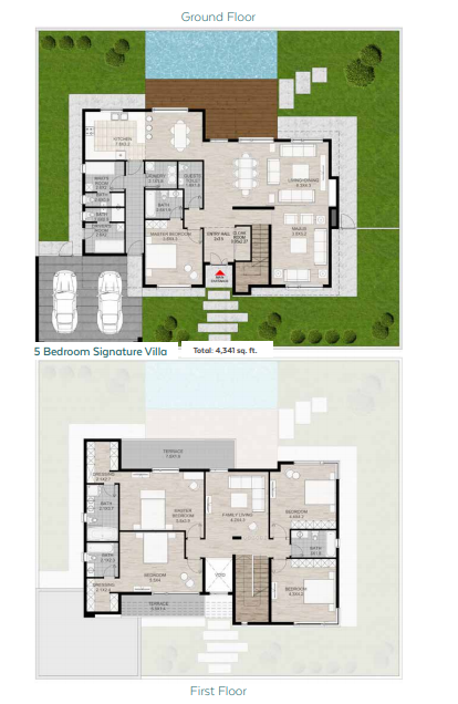 Planning of the apartment Villas, 4341 in Nasma Residences, Sharjah