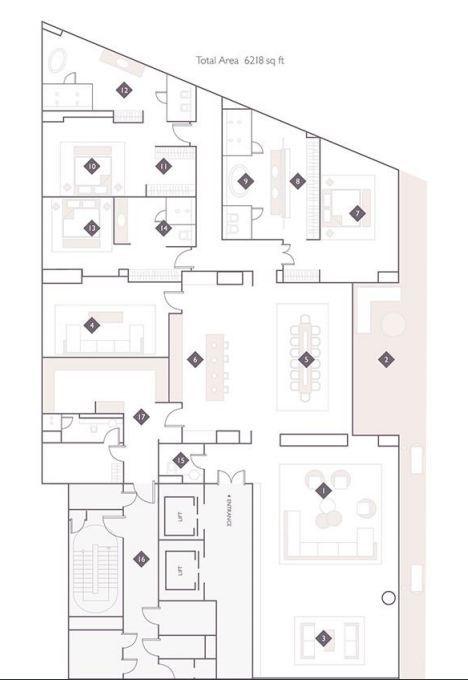 Planning of the apartment 4BR, 6218 in The Alef Residences, Dubai