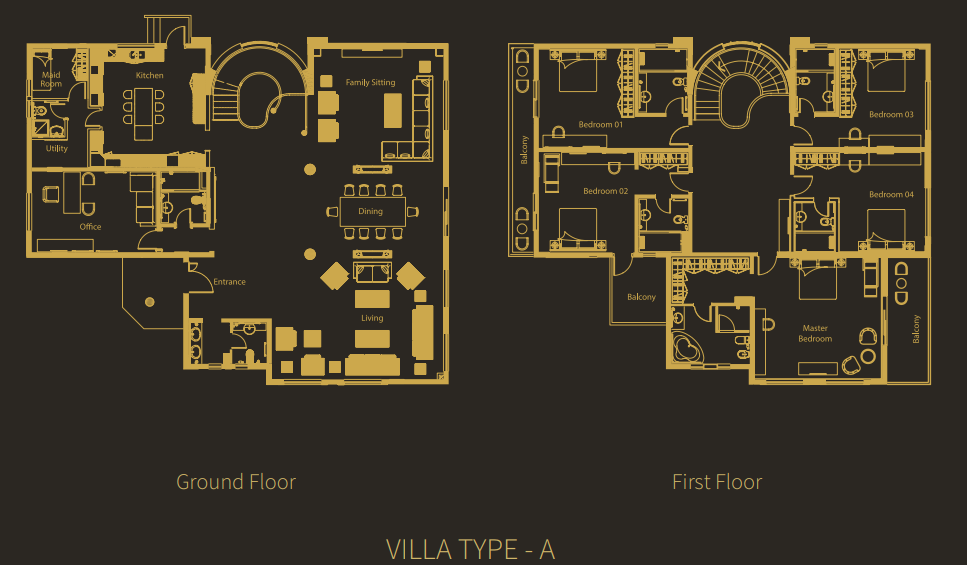 Planning of the apartment Villas, 6500 in Living Legends Villas, Dubai