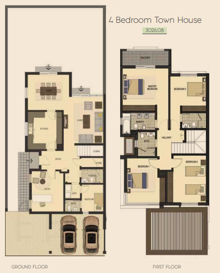 Planning of the apartment Townhouses, 3026.08 in Saadiyat Lagoons District Townhouses, Abu Dhabi