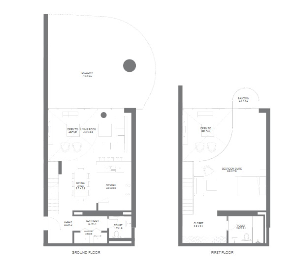 Planning of the apartment 1BR, 1759.6 in NorthBay Residences, Ras Al Khaimah