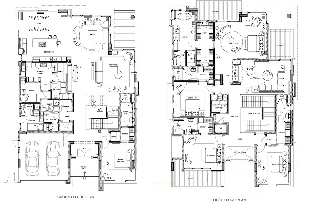 Planning of the apartment Villas, 6463 in The Ellington Collection, Dubai