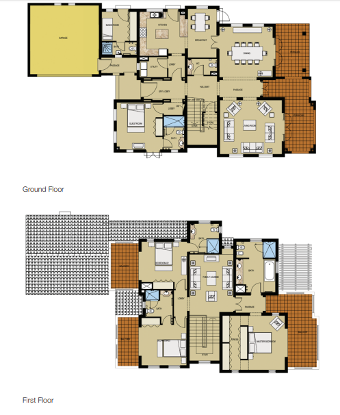 Planning of the apartment Villas, 4219 in Lime Tree Valley, Dubai