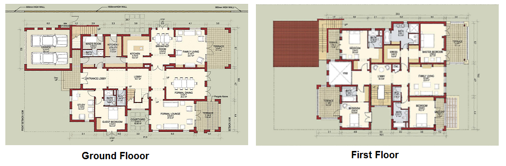 Planning of the apartment Villas, 5993 in Lime Tree Valley, Dubai