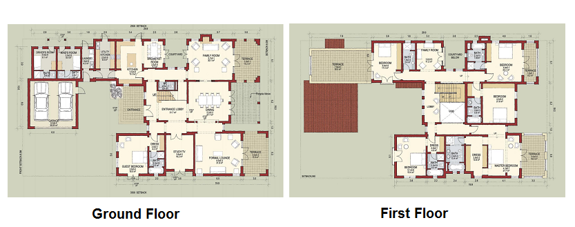 Planning of the apartment Villas, 6994 in Lime Tree Valley, Dubai