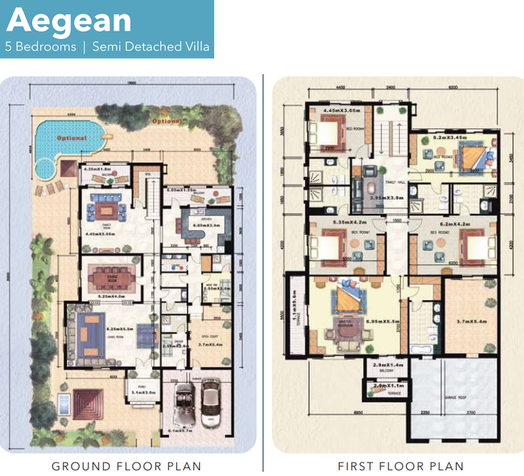 Planning of the apartment Villas, 5327 in Falconity Residential Villas and Townhouses, Dubai