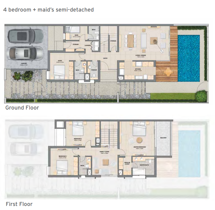 Planning of the apartment Townhouses, 2603 in Arabella Townhouses Phase I, Dubai