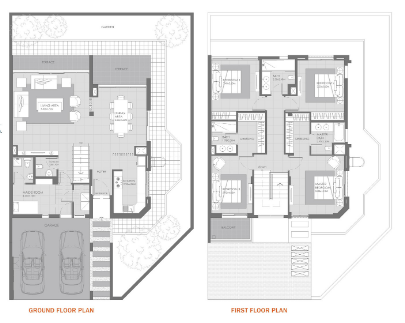 Planning of the apartment Villas 4BR, 2867 in MAG Eye Townhouses, Dubai