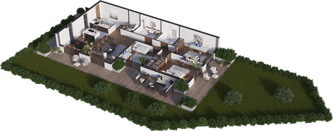 Planning of the apartment 4-bedroom apartments, 125.32 in Namai Vake, Tbilisi