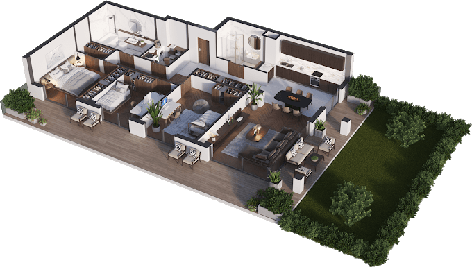 Planning of the apartment 4-bedroom apartments, 119.69 in Namai Vake, Tbilisi
