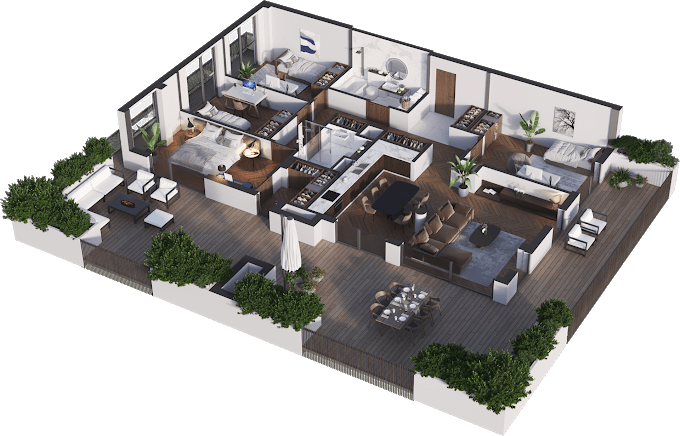 Planning of the apartment 5-bedroom apartments, 132.78 in Namai Vake, Tbilisi