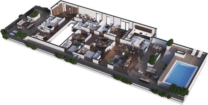 Planning of the apartment 5-bedroom apartments, 230.31 in Namai Vake, Tbilisi