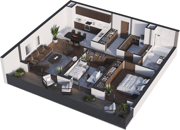 Planning of the apartment 3-bedroom apartments, 92.33 in Namai Vake, Tbilisi