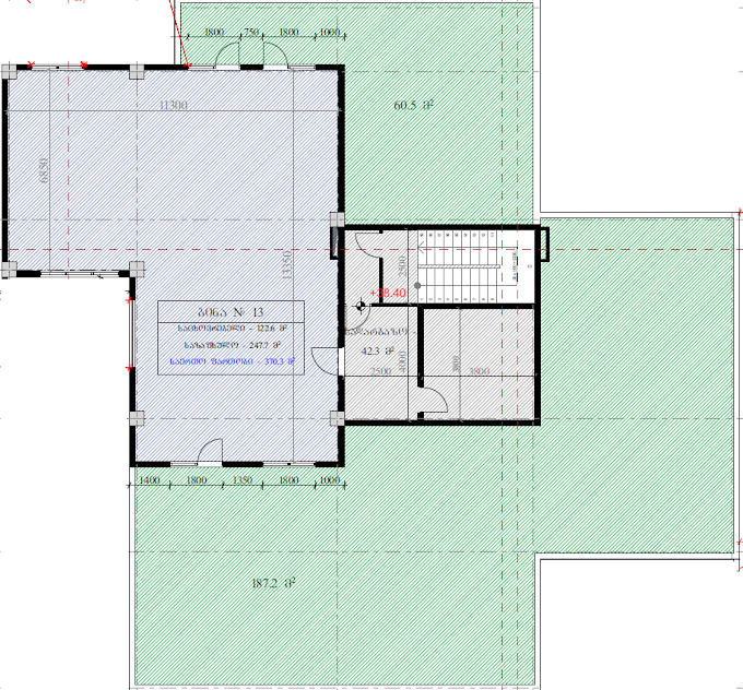 Planning of the apartment Custom layouts, 370.3 in House on Kapaneli 12, Tbilisi