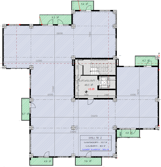Planning of the apartment Custom layouts, 393.6 in House on Kapaneli 12, Tbilisi
