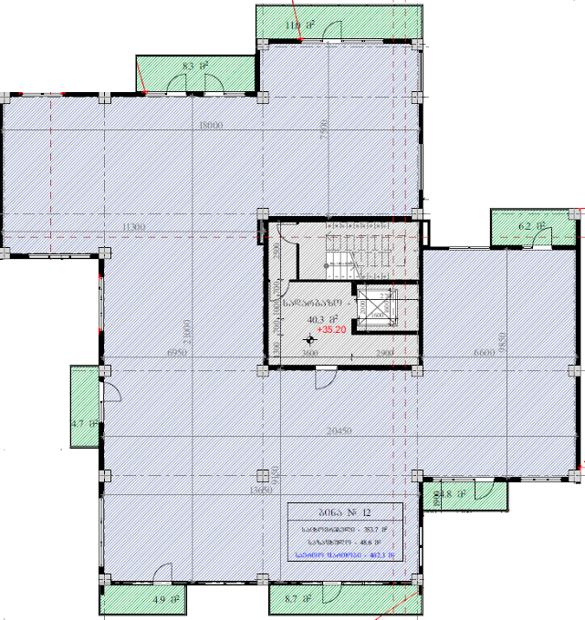 Planning of the apartment Custom layouts, 402.3 in House on Kapaneli 12, Tbilisi