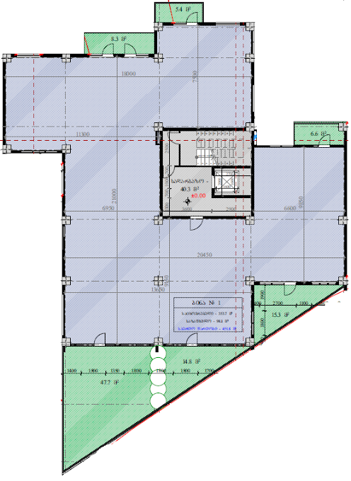 Planning of the apartment Custom layouts, 451.8 in House on Kapaneli 12, Tbilisi