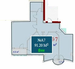 Planning of the apartment 3-bedroom apartments, 91.2 in Mardi Mall, Batumi