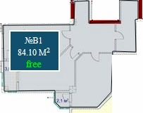 Planning of the apartment 2-bedroom apartments, 84.1 in Mardi Mall, Batumi