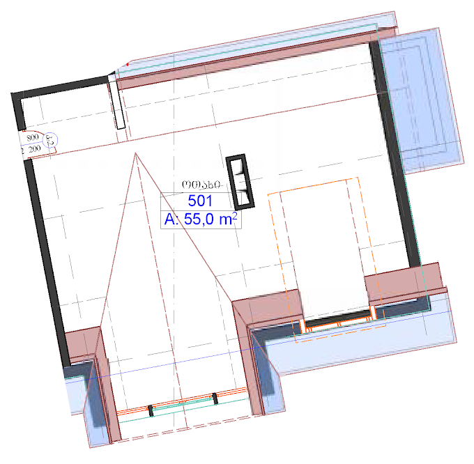 Planning of the apartment Custom layouts, 55 in Bakuriani Mix, Bakuriani