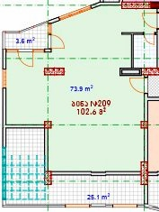 Planning of the apartment Custom layouts, 102.6 in House on Vaja Pshavela 53, Batumi