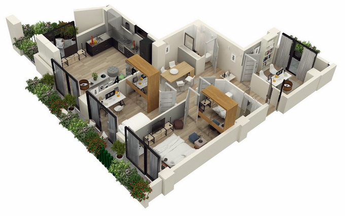 Planning of the apartment 3-bedroom apartments, 111.6 in Mindelis Diamond, Tbilisi