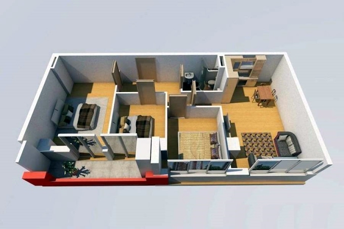Planning of the apartment 3-bedroom apartments, 126 in House on Shandor Petepi 42, 44, Tbilisi
