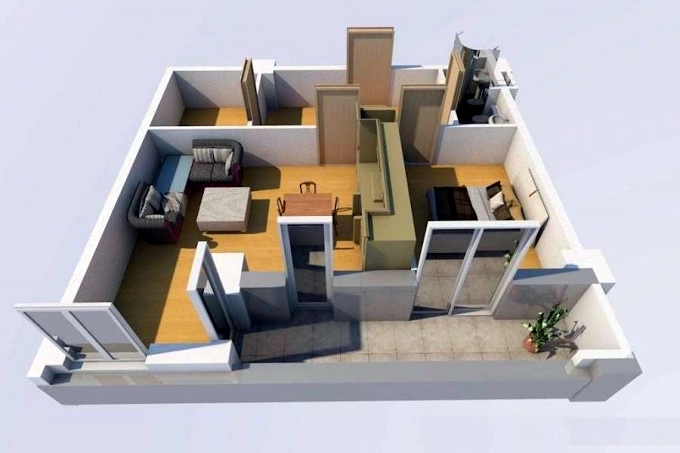Planning of the apartment 1-bedroom apartments, 49 in House on Shandor Petepi 42, 44, Tbilisi