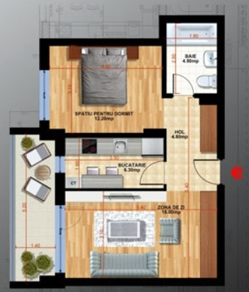 Studio, de la 74 304 € +TVA, 63.35 m², Confort Nord Apartments