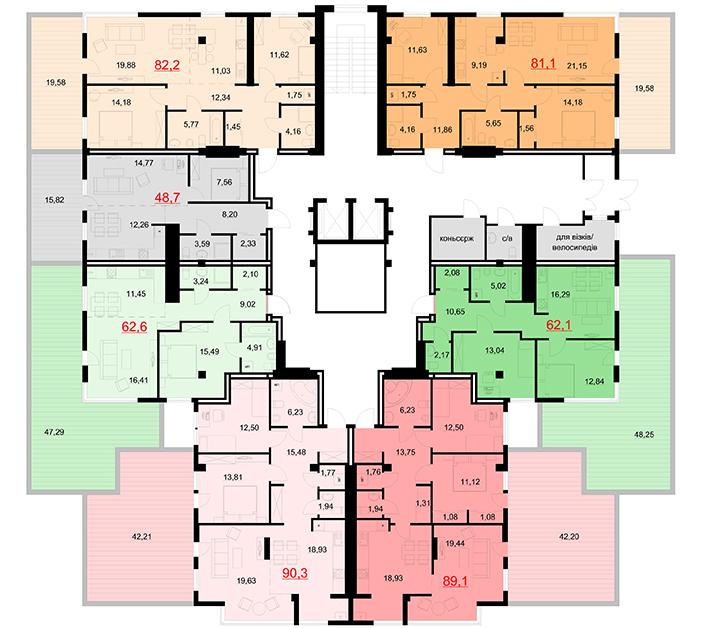 Жк европейский планировки квартир