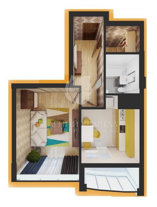 ЖК Зелений квартал  планування квартир — ЛУН (Бровари) 1da5f151e46d8