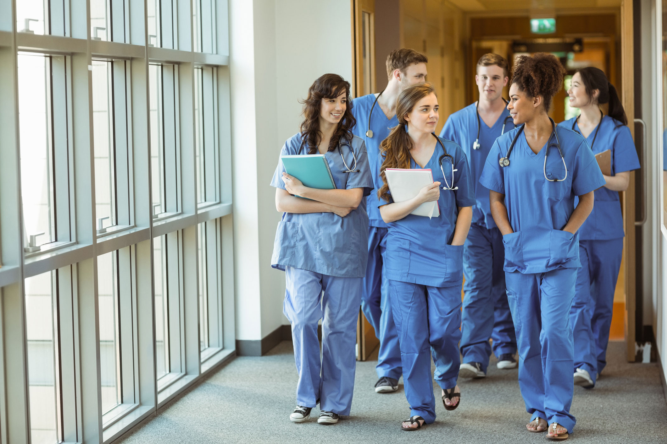 Student training to become med assistants
