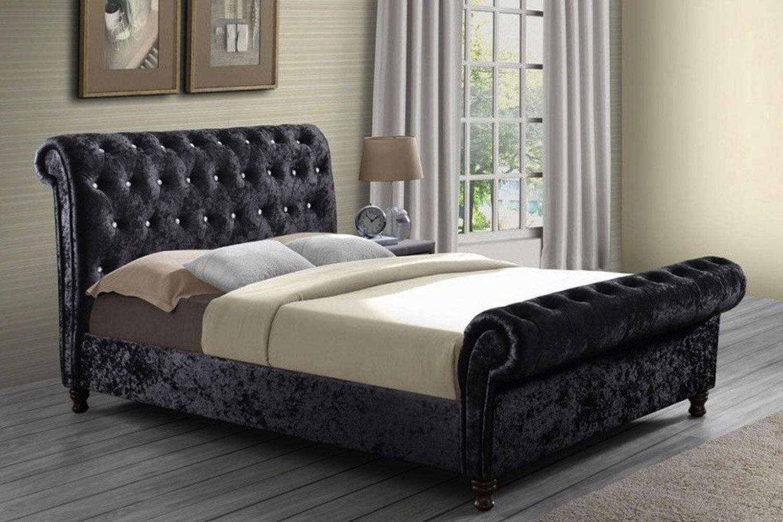 - Belford Chesterfield Upholstered Sleigh Bed Frame - Bedworld