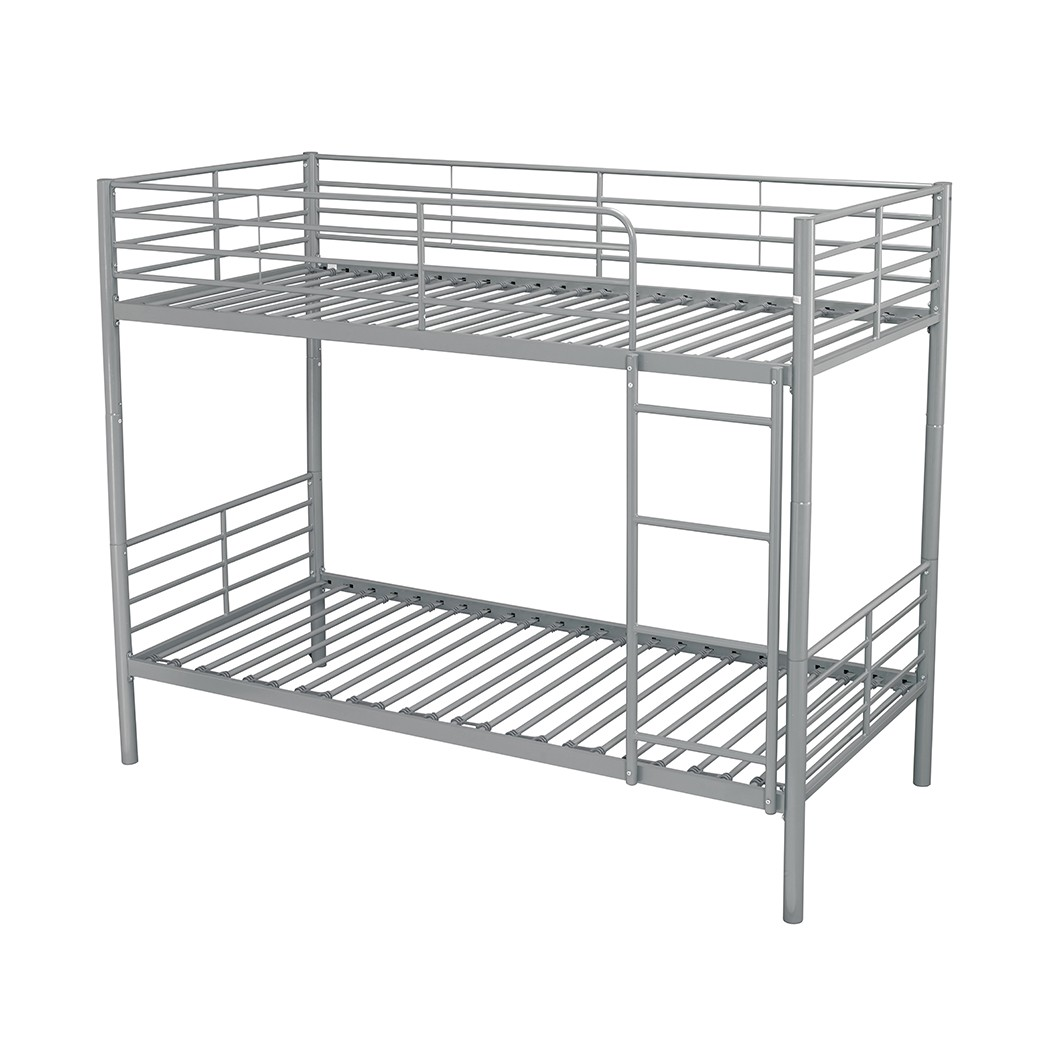 Picture of: Lpd Apollo Silver Metal Bunk Bed Bedworld