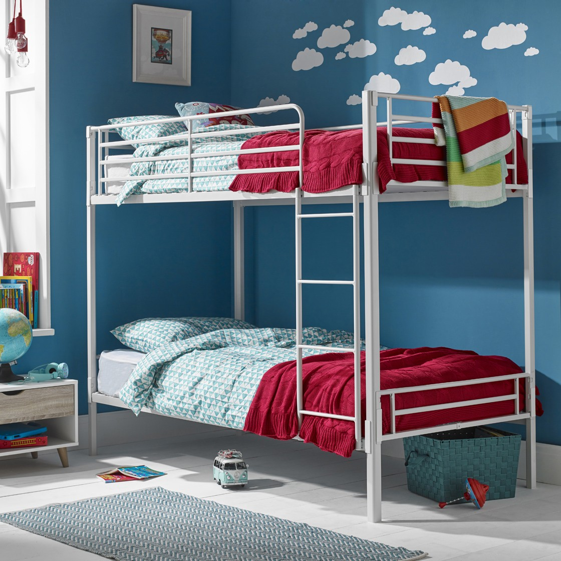 Picture of: Lpd Apollo White Metal Bunk Bed Bedworld