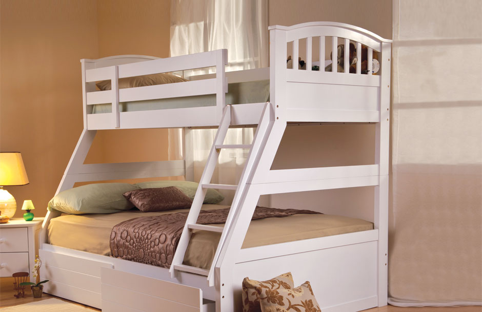 Sweet Dreams Epsom White Triple Sleeper Bunk Bed Aaa Beds