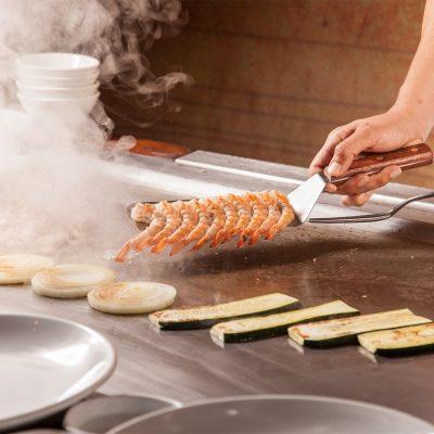 Chef Cooking Shrimp